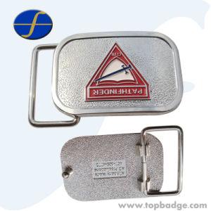 Custom Shape 3D Decorative Gold Alloy Metal Belt Buckle (FTBB2804A) pictures & photos