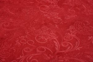 Burnout Knitted Polyster Fabric Packing in Roll pictures & photos