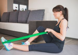 Resistance Loop Bands - Set of 5 Fitness Exercise Bands for Fitness Workouts - Stretching and Physical Therapy pictures & photos