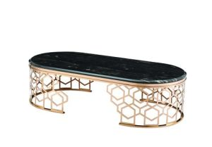 Morden Stainless Steel Coffee Table with Rose Gold Finish pictures & photos
