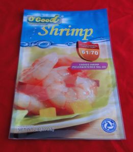 Three Sides Sealed Seafood Plastic Bag pictures & photos