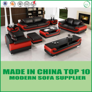 Classic Black and White Genuine Leather Sofa Set pictures & photos