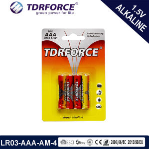 1.5V Lr03-AAA-Am4 Size China Factory Alkaline Dry Battery pictures & photos