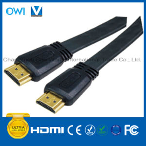 HDMI 19pin Plug-Plug Falt Cable pictures & photos