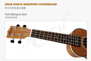 Wholesale String Instrument 21 Inch Solid Mahogany Hawaii Guitar pictures & photos
