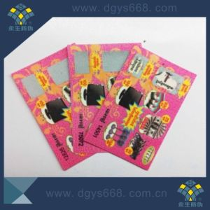 Color Printing Security Scratch off Card with Security Thread pictures & photos