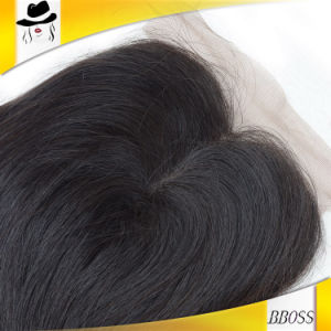 Real Natural 5*5 Silk Top Light Brown Lace Closure Pieces pictures & photos