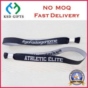 Custom Your Company Logo Adjustable Polyester Wrist Band pictures & photos