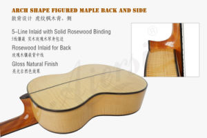 Aiersi All Solid Flame Maple Spanish Classical Guitar Sc100A pictures & photos