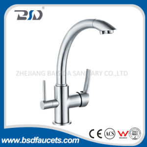Three Way Sink Mixer Pure Water Watermark Brass Kitchen Faucet pictures & photos