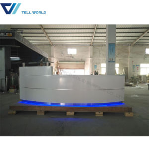 Hotel Reception Desk, Hot Sale Half Round Reception Desk pictures & photos