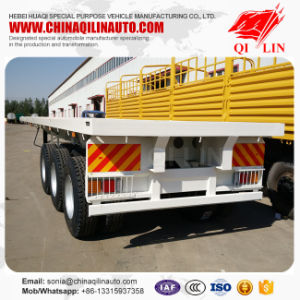 Tri-Axle 40FT Flatbed Trailer Price for Sale pictures & photos