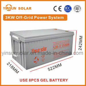 3000W off-Grid Solar Power System for Home Solar Energy PV System pictures & photos
