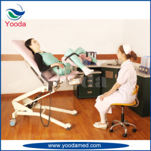 Electric and Gas Spring Control Gynecology Examination Chair pictures & photos