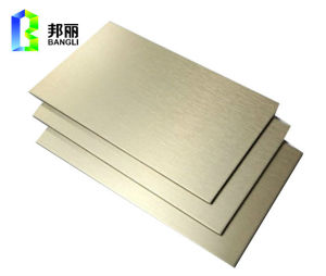 Red Color PVDF Mirror Anodized Aluminum Sheet Solid Aluminum pictures & photos