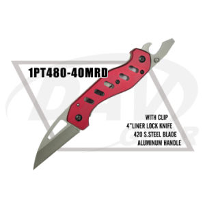 "4""Closed 420 Stainless Steel Blade Red Handle Pocket Knife (1PT480-40MRD) pictures & photos"