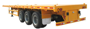 40feet Container 3 Axles Flat Bed Semi Trailer pictures & photos