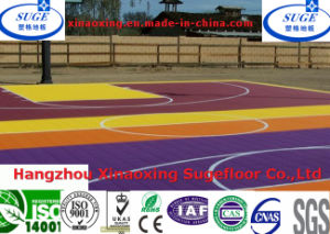 Special Design Interlocking Suspended Outdoor Basketball Flooring pictures & photos