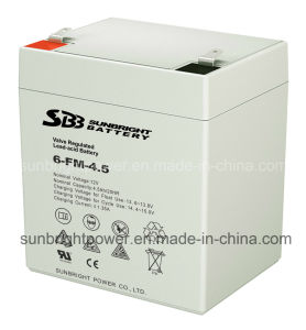 12V4.5ah Maintenance Free Rechargeable UPS Sealed Lead Acid Battery pictures & photos