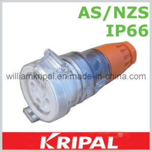 IP66 4 Pin 32A Waterproof Industrial Socket pictures & photos