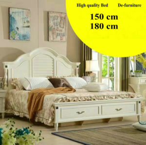 Korean Style Bed, Bedroom Furniture, New Arrival Leather Bed (L098) pictures & photos