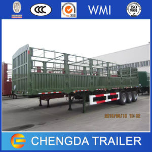 3 Axles Heavy Duty Fence Cargo Trailers for Sale pictures & photos