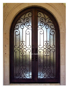 Elegant Design Dark Copper Iron Exterior Doors pictures & photos