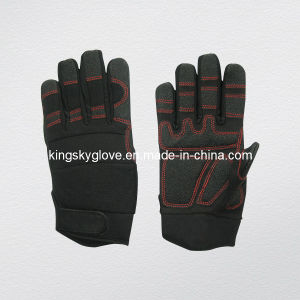 Synthetic Leather Mechanic Work Glove pictures & photos