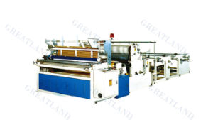 Automatic Trim Sealing, Embossing and Perforating Toilet Roll Rewinder pictures & photos