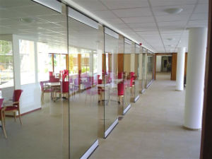 Movable Frameless Glass Partition Walls for Shopping Mall, Hotel, Restaurant pictures & photos