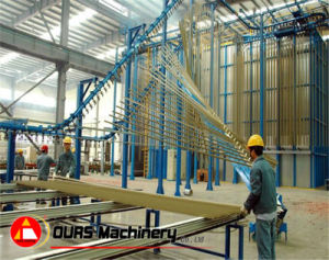 Overhead Chain Conveyor Powder Coating Line for Aluminum Profile pictures & photos