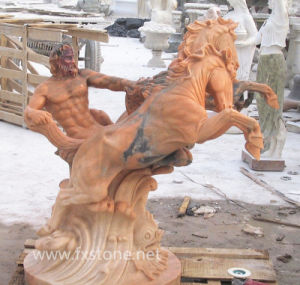 Marble Horse with Man (MAM-001) pictures & photos
