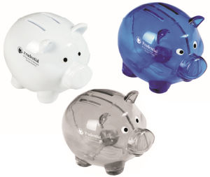 Plastic Pig Shape Coin Box with Customer Logo pictures & photos
