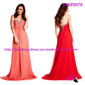 Chiffon Organza Evening Dresses 2014 with Zipper up Back pictures & photos