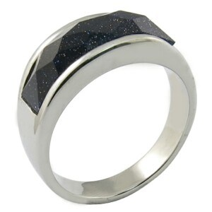 Popular Style Gemstone 316L Stainless Steel Jewelry Ring pictures & photos