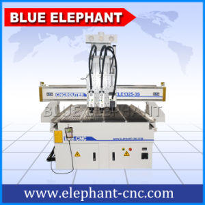 Ele 1325 High Quality Pnumatic 3 Heads CNC Router, Cheap 3D CNC Router with 3 Spindles pictures & photos