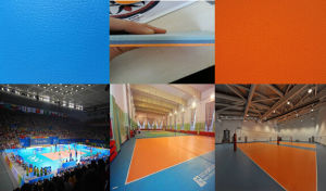 Cheap Indoor/Outdoor PVC Interlocking/Roll / Tile Volleyball Floor pictures & photos