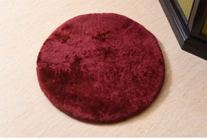 Genuine Soft Sheepskin Round Chair Cushion Seat Pad pictures & photos