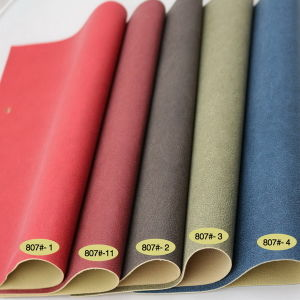 Synthetic Semi PU Leather for Furniture Industry (807#) pictures & photos