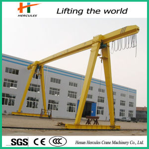 20 Ton Remote Control Single Girder Gantry Crane with Hook pictures & photos
