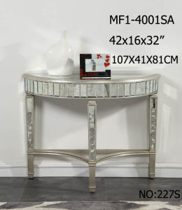 Half Moon Shape Side Table with Antique Mirror pictures & photos