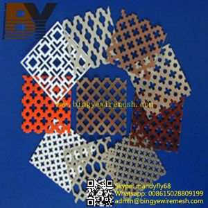 Powder Coated Perforated Metal Mesh pictures & photos