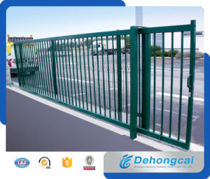 Used Beautiful Decoration Galvanized House Sliding Gate / Steel Driveway Gate pictures & photos