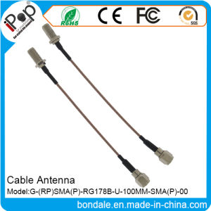 RP SMA P Rg178b U 100mm SMA Cable Antenna for Cable Radio Antenna
