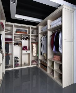 Cartagena U Style Cloakroom White Wood PVC Bedroom Wardrobe (CA01-04) pictures & photos