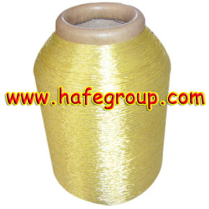 Pure Gold 600d Metallic Yarn on Polyester & Rayon & Cotton Yarn pictures & photos