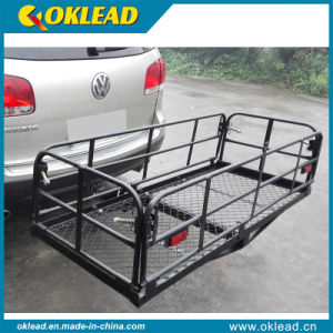 Folding Rear Basket Hitch Mount Cargo Carrier (RS03)