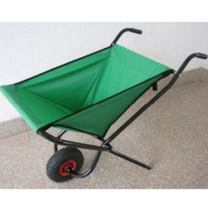 Portable Folding Garden Wheelbarrow with Fabric Tray Wb0400 pictures & photos
