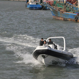 Liya 7.5m Central Console Rib Boat Rigid Hull Inflatable Boat pictures & photos