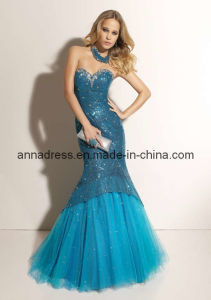Strapless Lace Beads Prom Dress (Z-042)